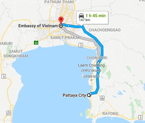 How to get Vietnam visa in Pattaya | Consulate of Vietnam in ...
